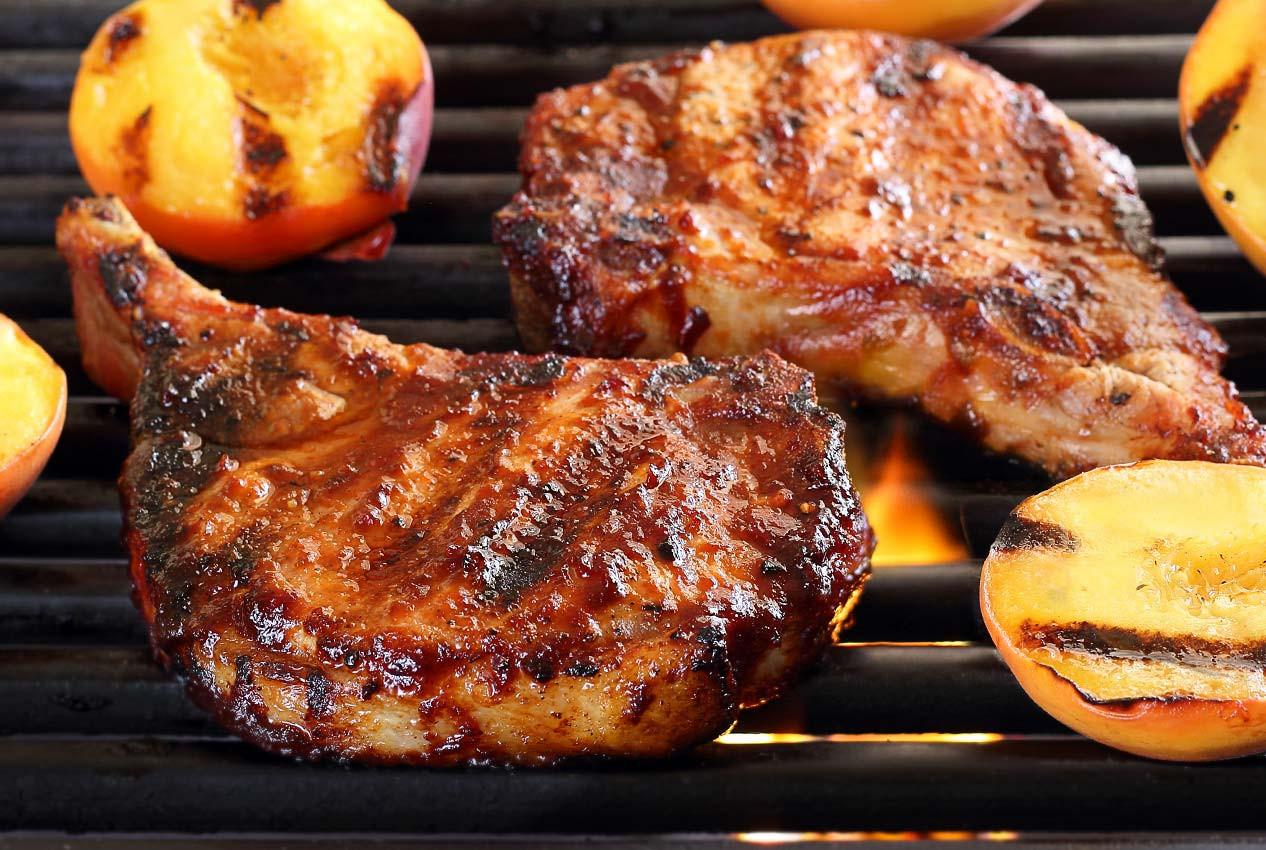 Paleo Pork Chops  Paleo Pork Chops with Cherry Barbecue Sauce