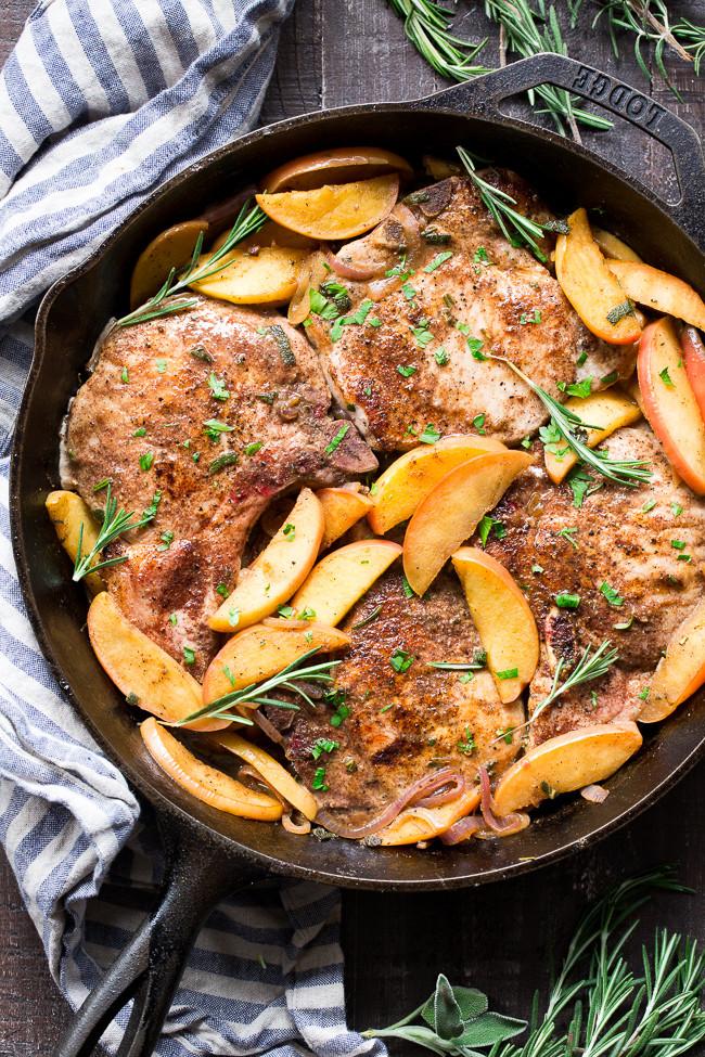 Paleo Pork Chops  e Skillet Pork Chops with Apples Paleo Whole30