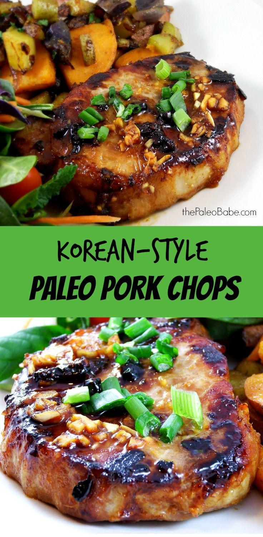 Paleo Pork Chops  Paleo Korean Style Pork Chops Recipe