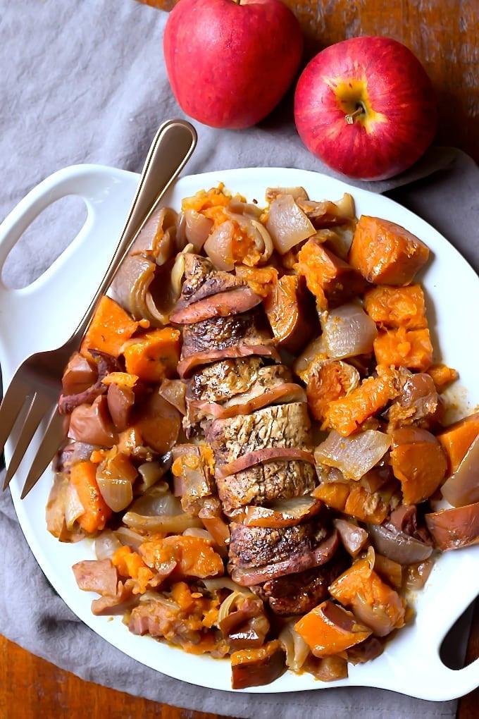 Paleo Pork Tenderloin  Slow Cooker Apple Cinnamon Pork Loin