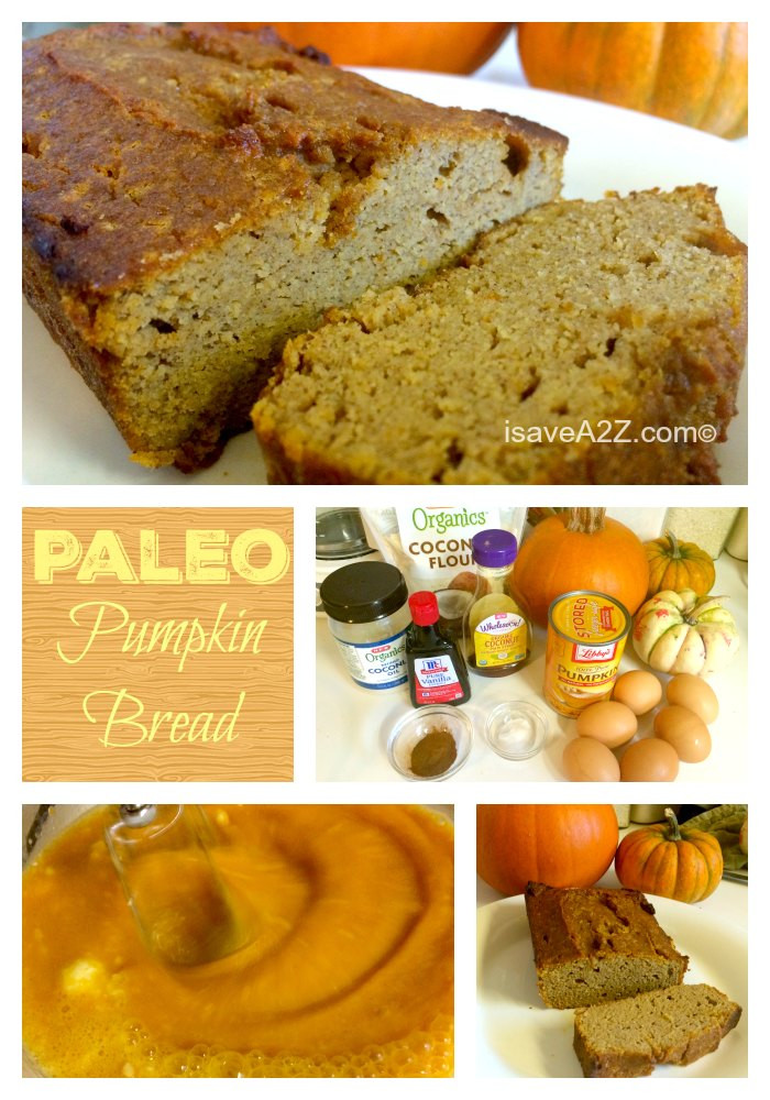 Paleo Pumpkin Bread  Paleo Pumpkin Bread Recipe iSaveA2Z