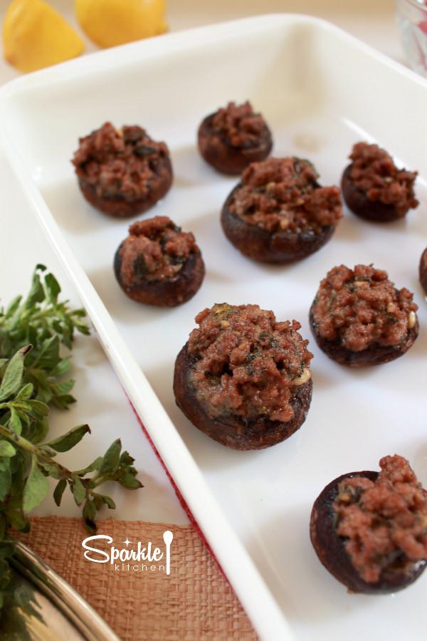 Paleo Stuffed Mushrooms  Stuffed Mushrooms Paleo Dairy Free Gluten Free