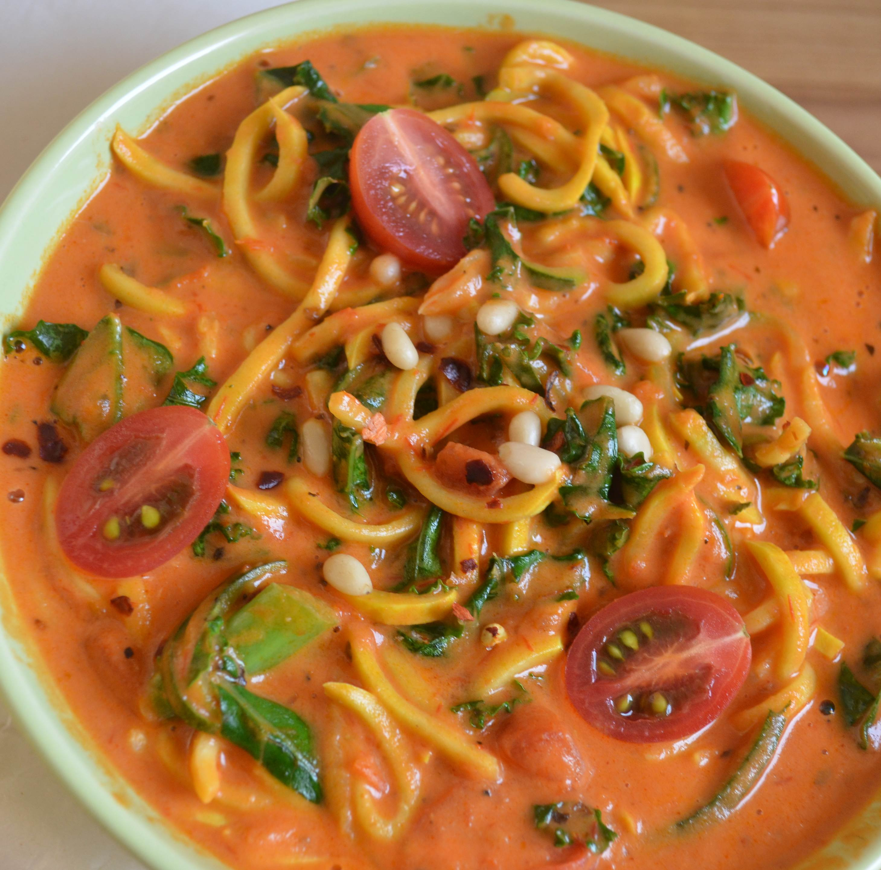 Paleo Vegan Recipes  Tomato Cream Sauce with Zucchini Noodles Paleo Vegan