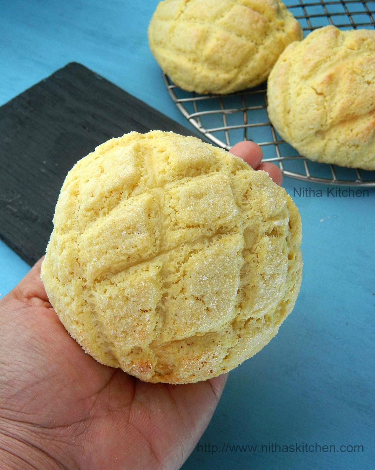 Pan Bread Recipe  Melon Pan