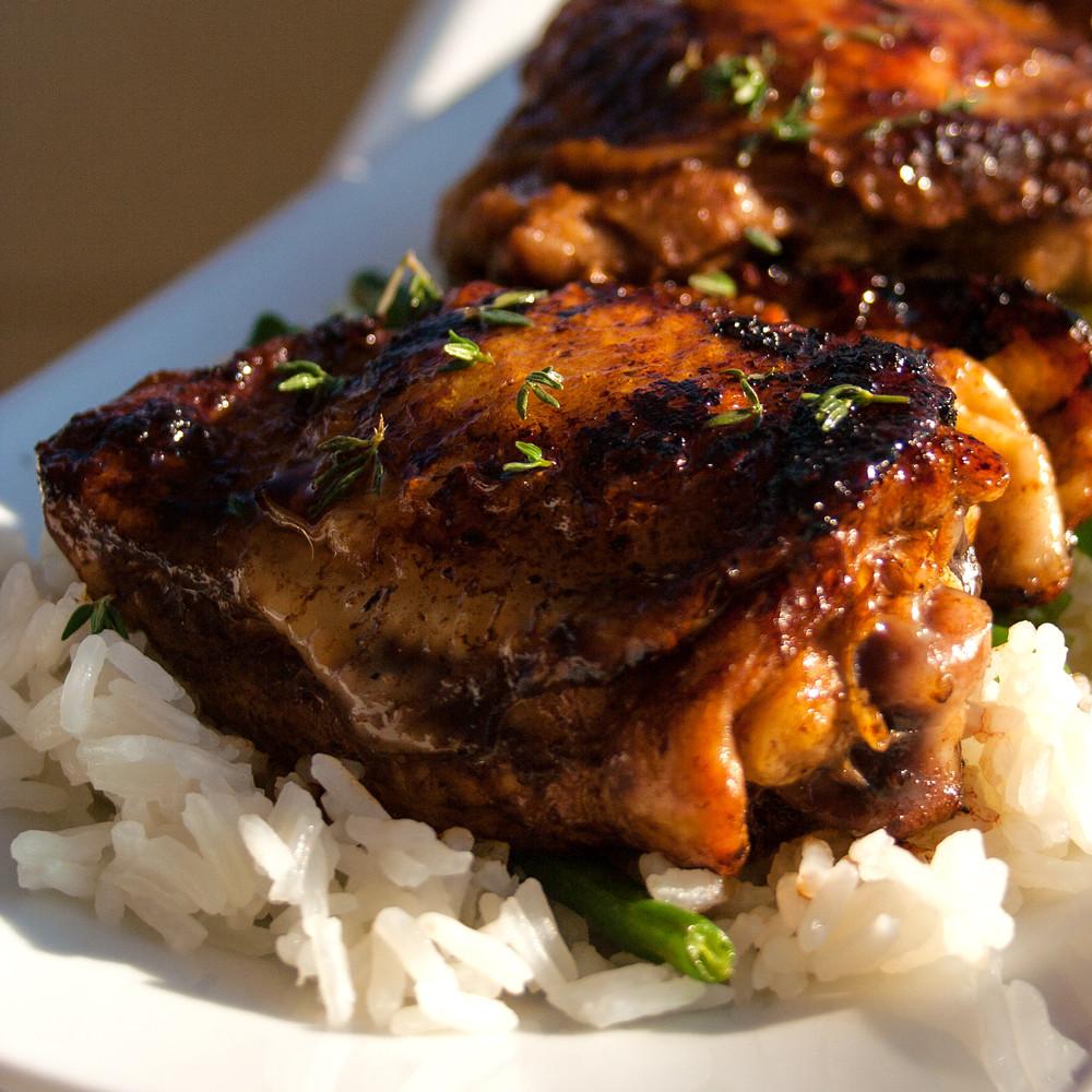 Pan Fried Chicken Thighs  Pan Fried Balsamic Vinegar Chicken Thighs Recipe