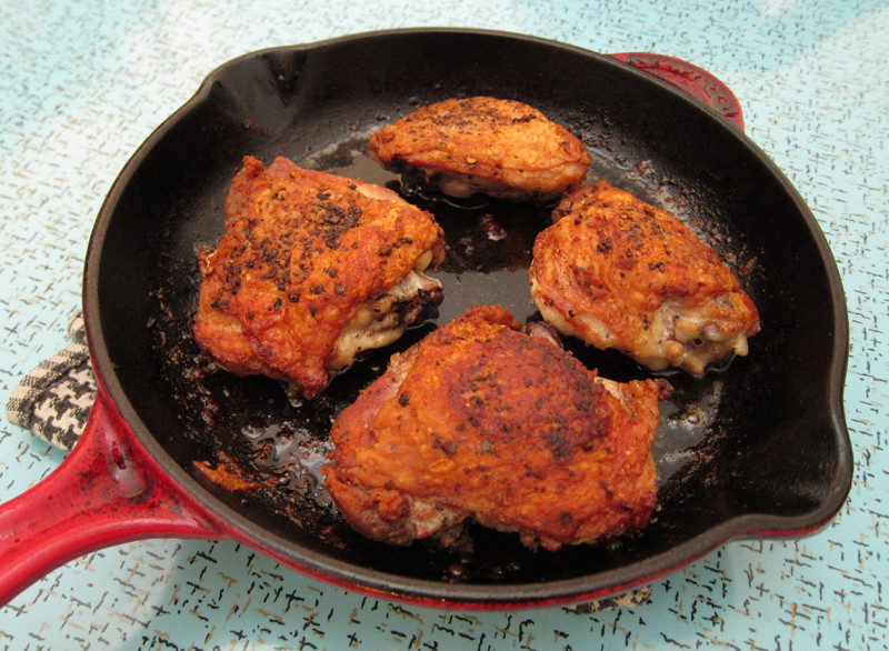 Pan Fried Chicken Thighs  perfect pan roasted chicken thighs
