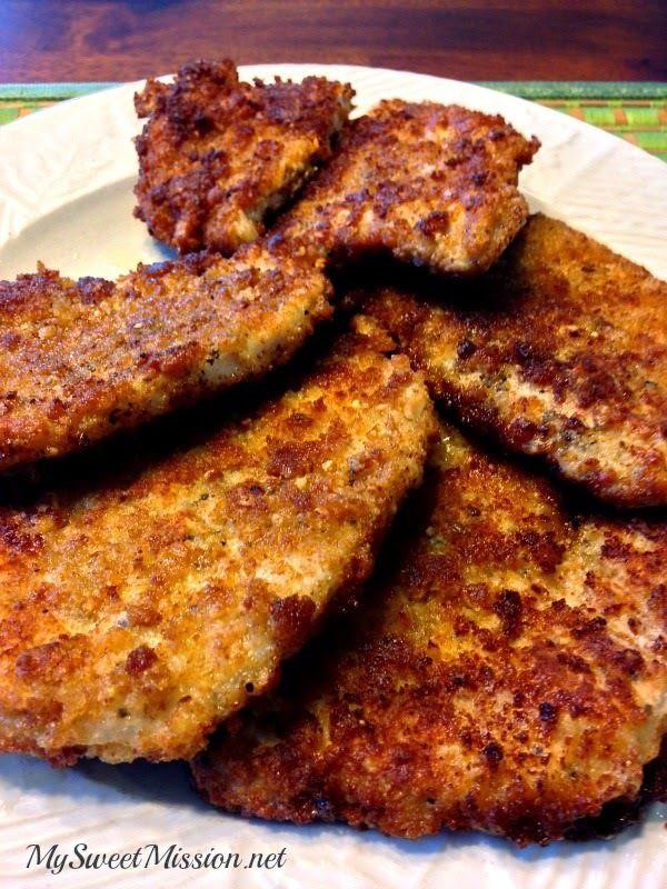 Pan Fried Thin Pork Chops  Crispy Pan Fried Pork Chops My Sweet Mission