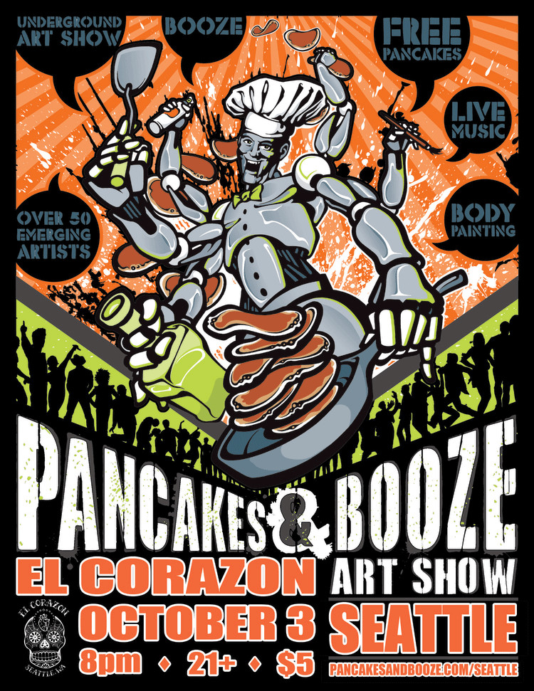 Pancakes And Booze  Accepted to My First Art Show – Ryanne Levin
