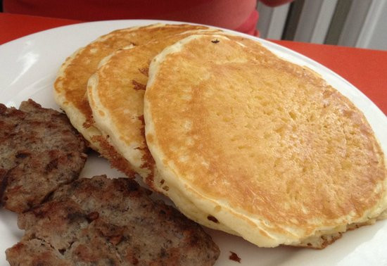Pancakes And Sausage  Pancakes and Sausage Picture of Khaan Deli Ulaanbaatar