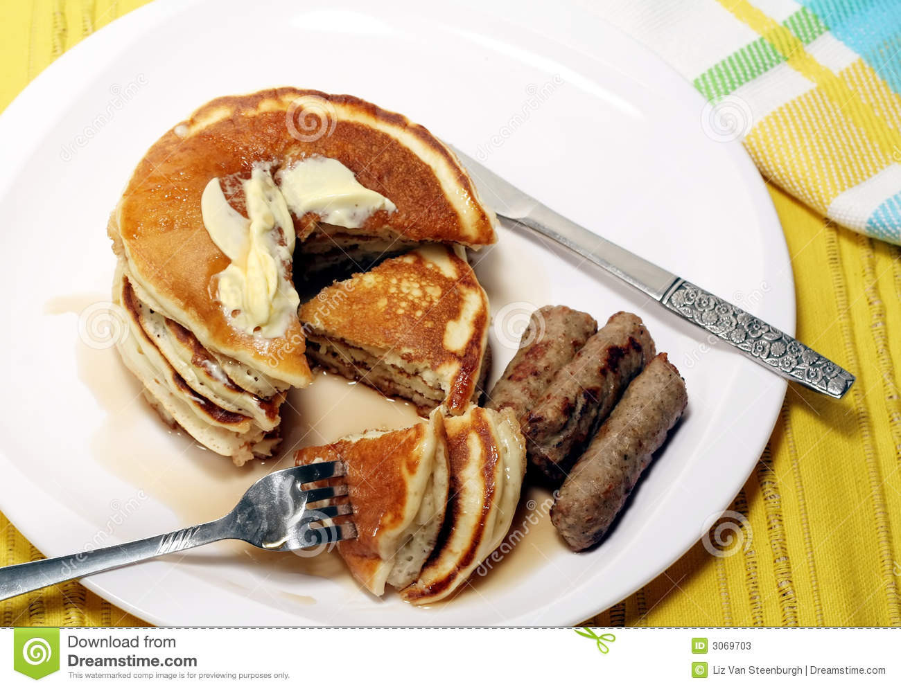 Pancakes And Sausage  Pancakes And Sausage Stock s Image