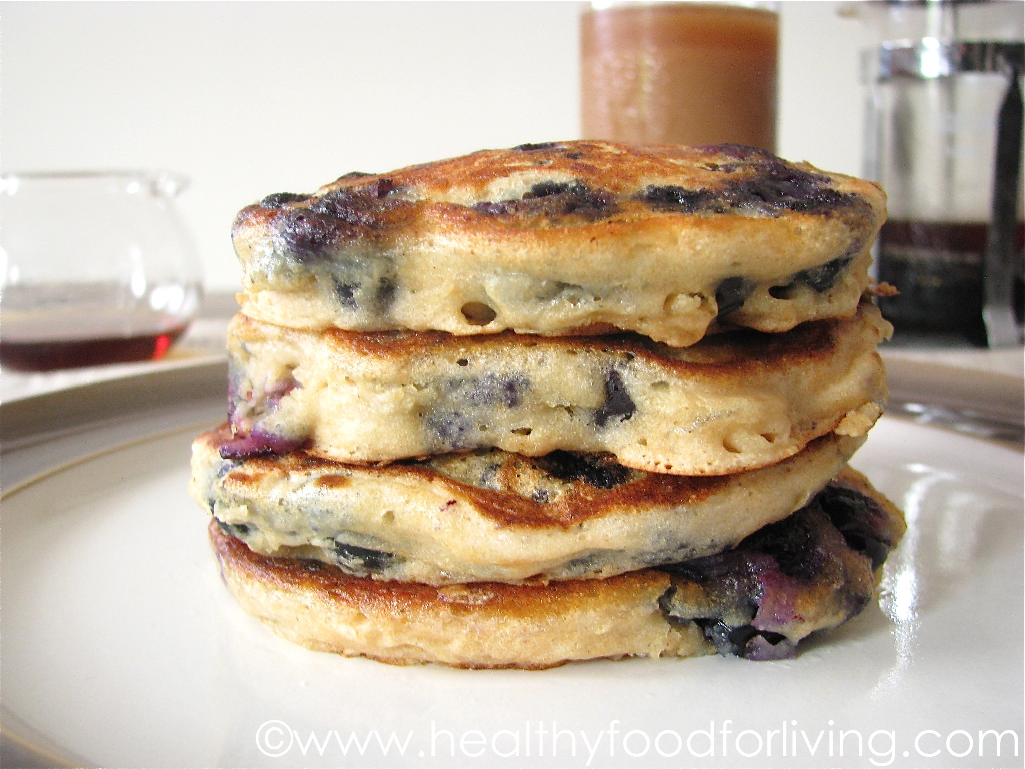 Pancakes For One  Blueberry Buttermilk Pancakes for e