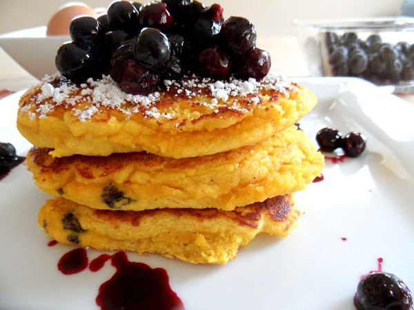 Pancakes For One  Blueberry Coconut Flour Pancakes for e The Roasted Root