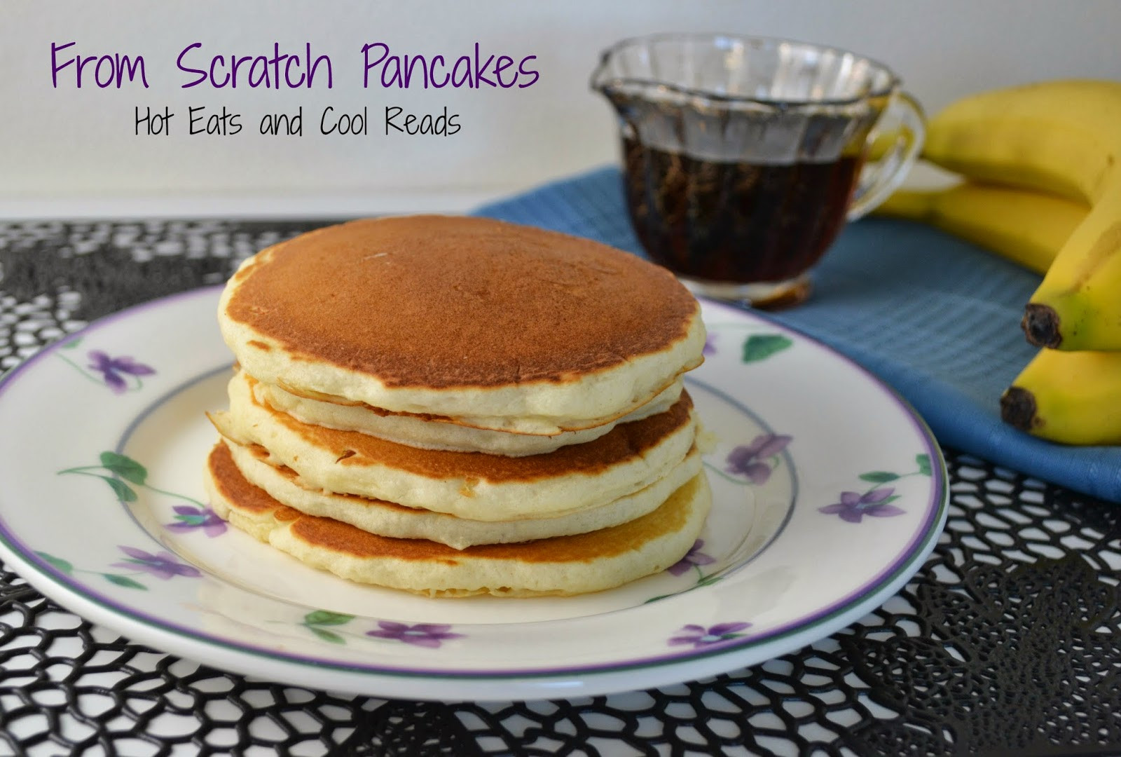 Pancakes From Scratch Recipe  Hot Eats and Cool Reads Strawberries and Cream Crepes Recipe