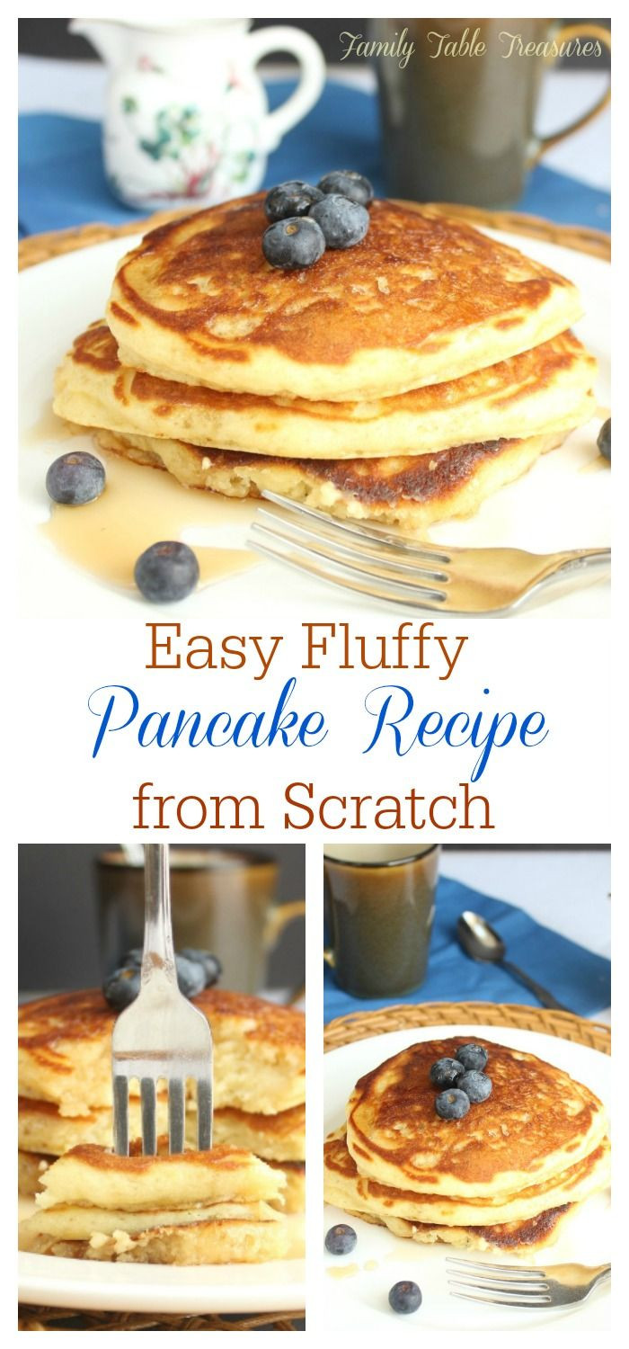 Pancakes From Scratch Recipe  Easy Fluffy Pancake Recipe from Scratch Recipe
