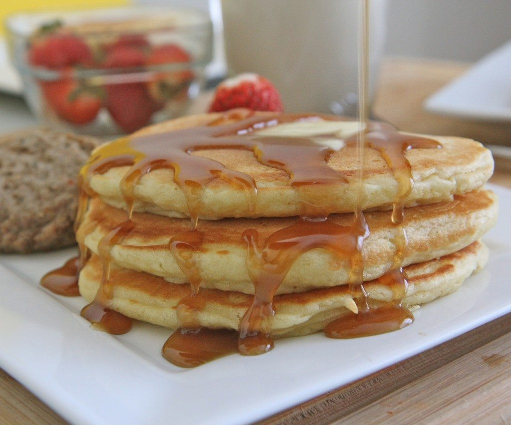 Pancakes From Scratch Recipe  Fluffy Buttermilk Pancakes Recipe