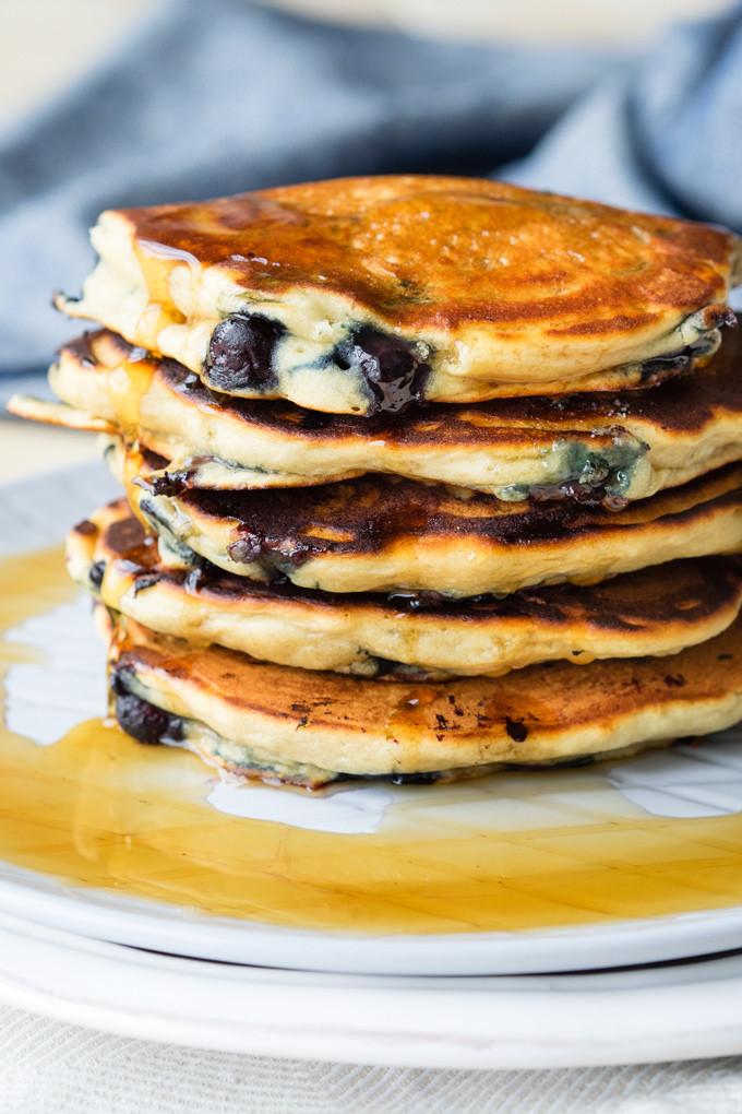 Pancakes No Milk  Blueberry Vegan Pancakes Fluffy Vegan Dairy free