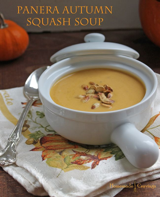 Panera Autumn Squash Soup  Favorite Pinterest Finds Kelly Runs For Food