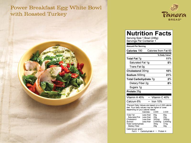 "Panera Bread Avocado Egg White & Spinach Breakfast Power  News Panera Bread Unveils ""Hidden Menu"""