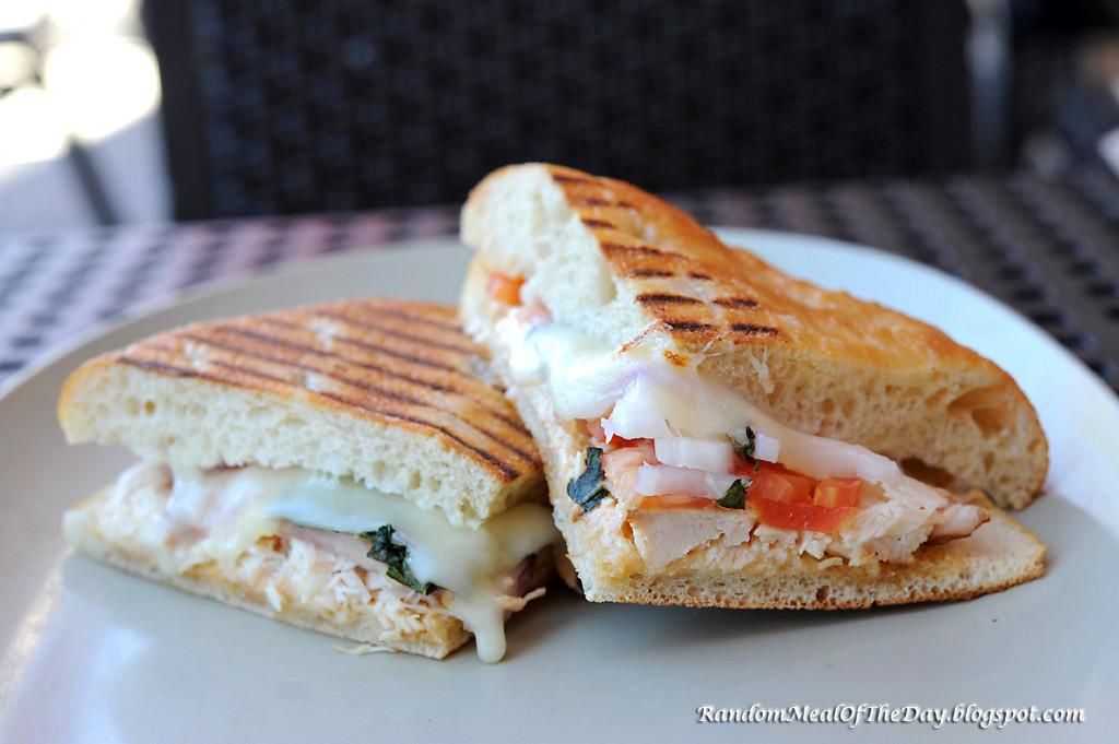 Panera Bread Frontega Chicken Panini On Focaccia  Random Meal The Day Frontega Chicken on Focaccia