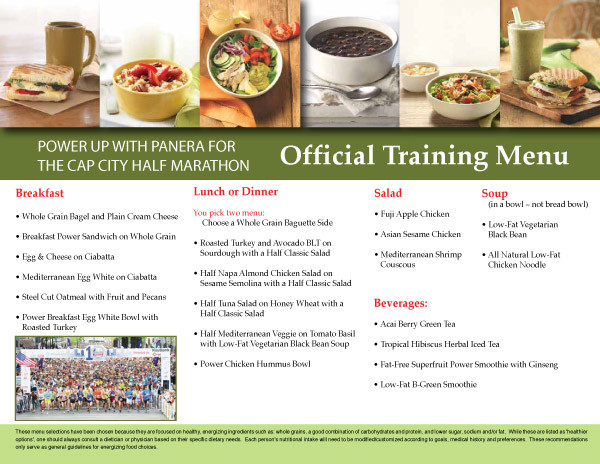 Panera Bread Menu Breakfast  Panera Bread ficial Training Menu for OhioHealth Capital
