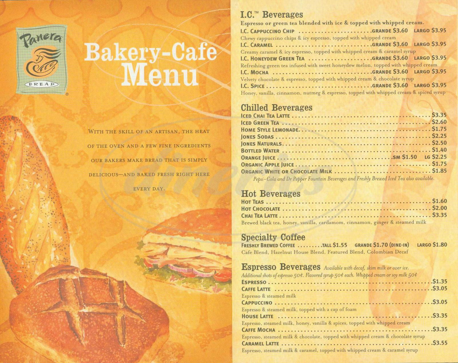 Panera Bread Menu Breakfast  panera bread lunch menu