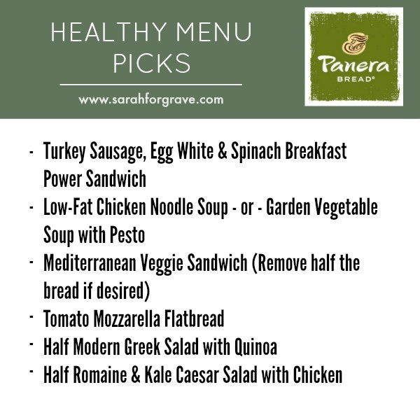 Panera Bread Turkey Sausage Egg White & Spinach Breakfast Power  Healthy Restaurant Picks Sandwich and Deli