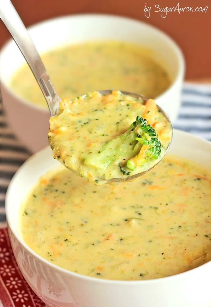Panera Broccoli Cheddar Soup Recipe  Homemade Panera Broccoli Cheese Soup Sugar Apron