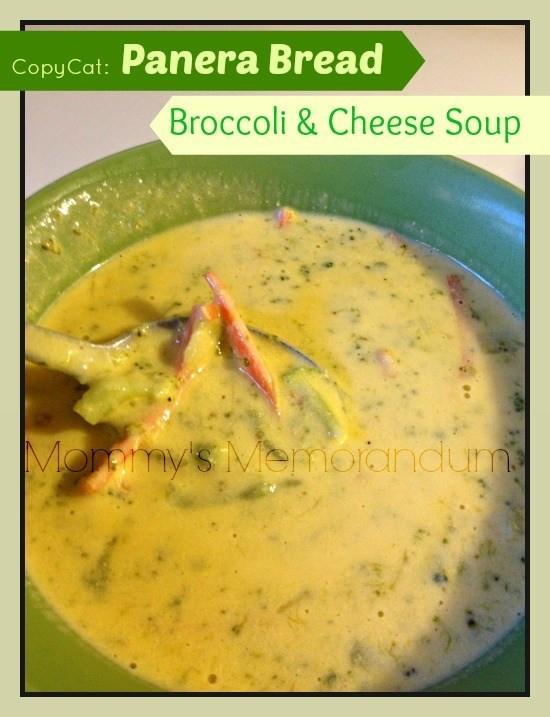 Panera Broccoli Cheddar Soup Recipe  Copy Cat Panera Bread Broccoli Cheese Soup Recipe