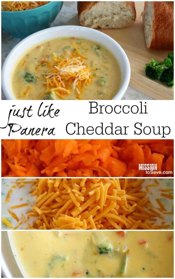 Panera Broccoli Cheddar Soup Recipe  Just Like Panera Broccoli Cheddar Soup Recipe Mission