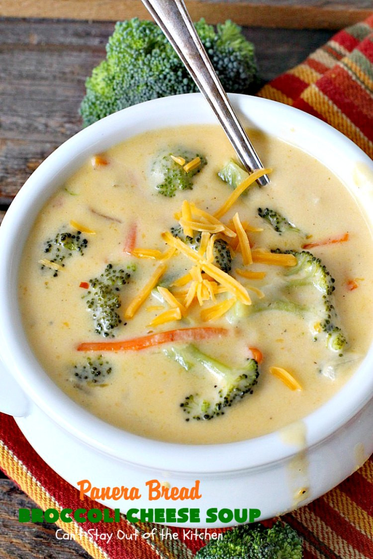 Panera Broccoli Cheddar Soup Recipe  Panera Bread Broccoli Cheese Soup Can t Stay Out of the