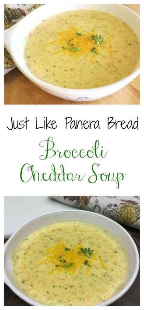 Panera Broccoli Cheddar Soup Recipe  Easy Copycat Panera Bread Broccoli Cheddar Cheese Soup