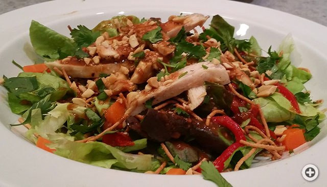 Panera Chicken Salad  Panera's Thai Chopped Chicken Salad Recipe – one foo