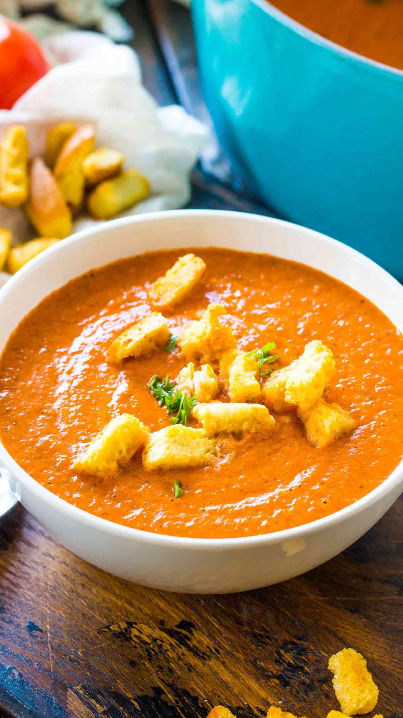 Panera Tomato Soup  Panera Bread Creamy Tomato Soup Copycat Sweet and Savory