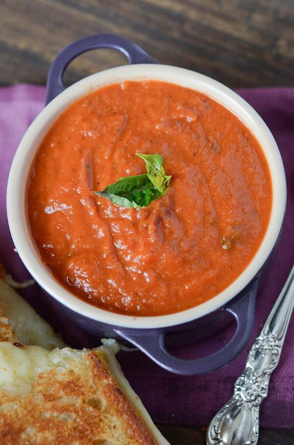 Panera Tomato Soup  Panera Creamy Tomato Soup Copycat Recipe