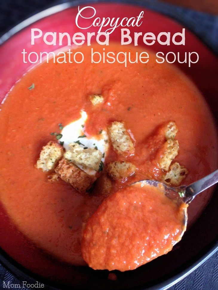 Panera Tomato Soup  Copycat Panera Tomato Soup Recipe Creamy Tomato Bisque Soup