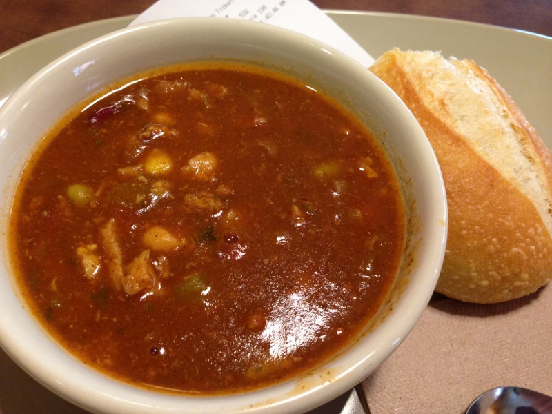 Panera Turkey Chili  panera bread turkey chili review