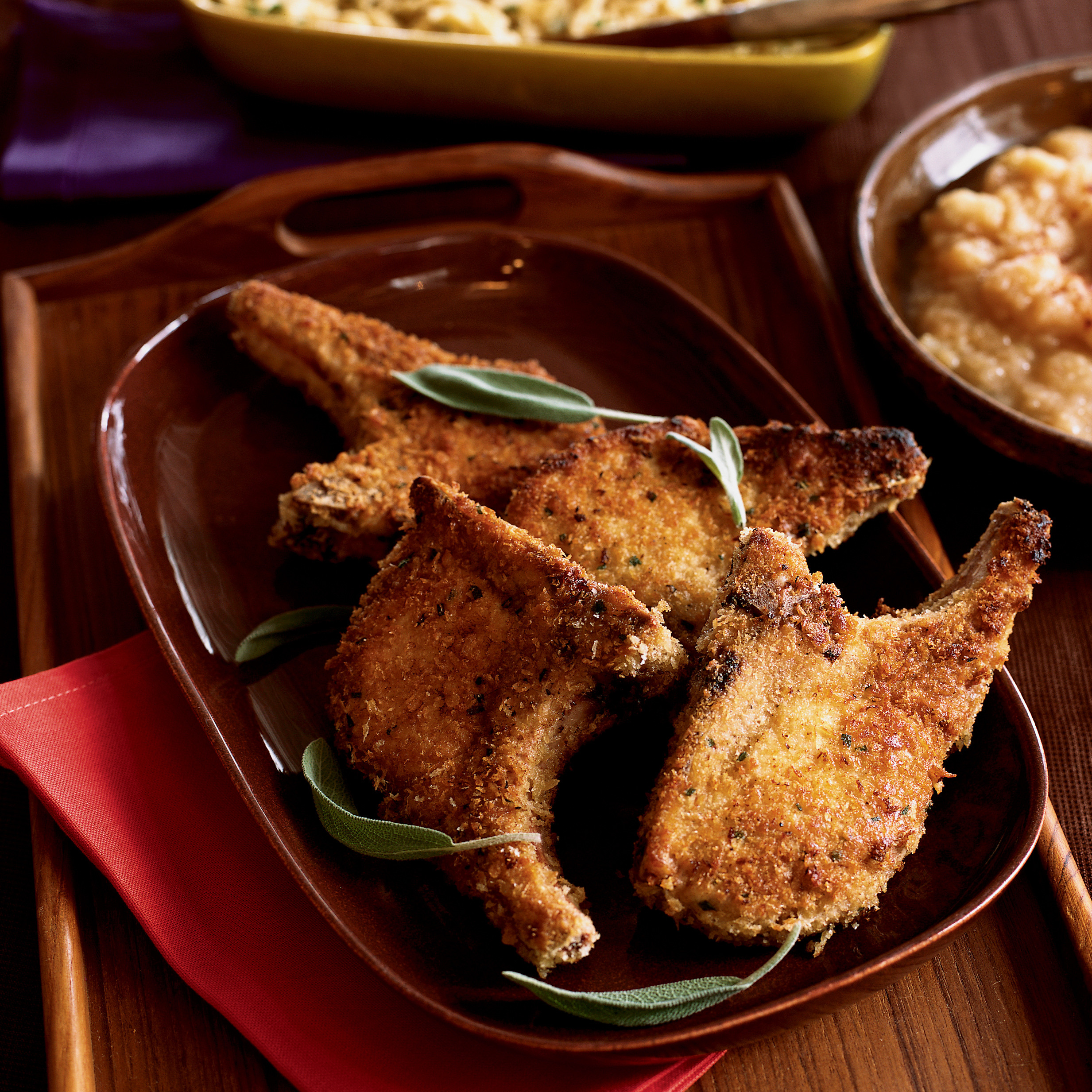Panko Breaded Pork Chops  Panko Breaded Pork Chops Recipe Gale Gand