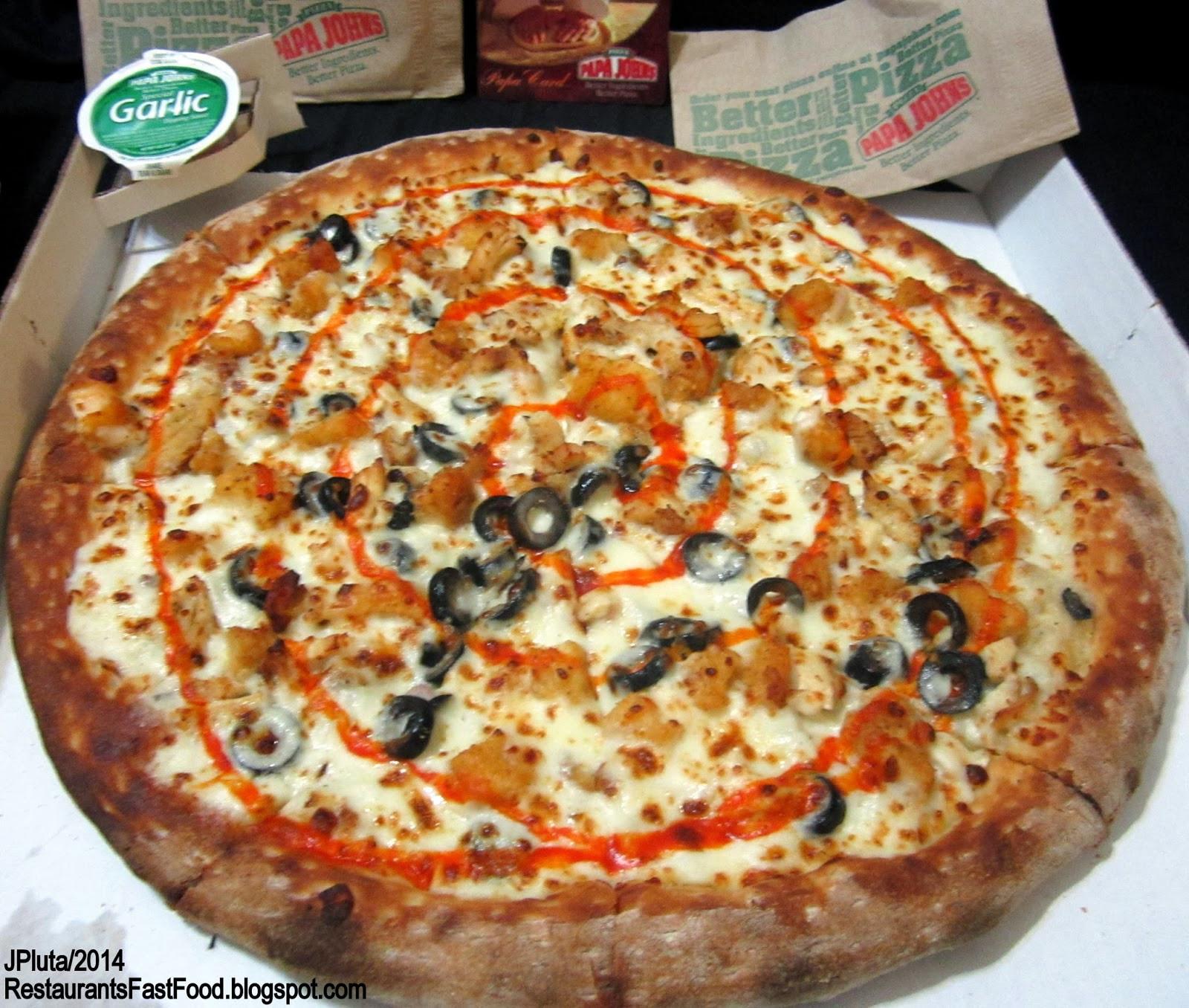 Papa John'S Buffalo Chicken Pizza  DAYTONA BEACH FLORIDA Volusia Restaurant Hospital Bank