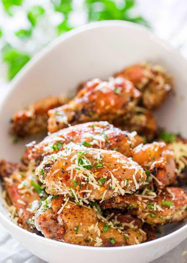 Parmesan Chicken Wings  Crispy Baked Parmesan Chicken Wings Jo Cooks