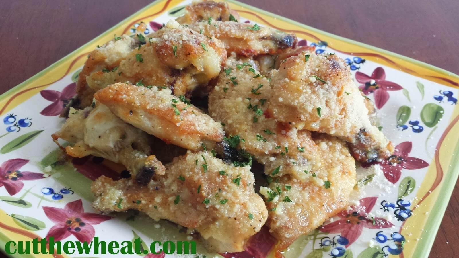 Parmesan Chicken Wings  Game Day Garlic Parmesan Wings