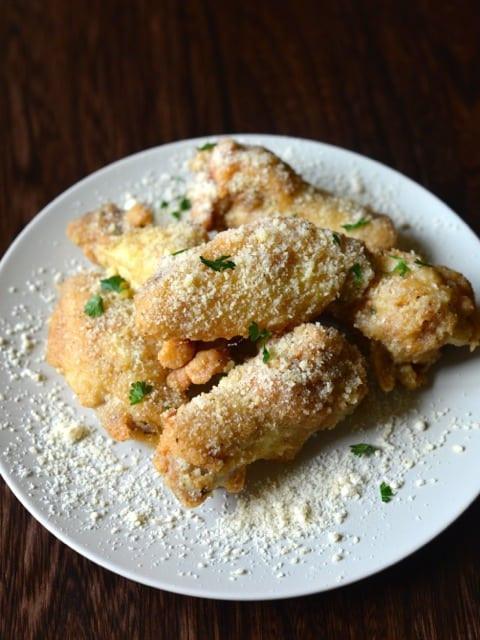 Parmesan Chicken Wings  Wingstop Garlic Parmesan Wings Recipe CopyKat