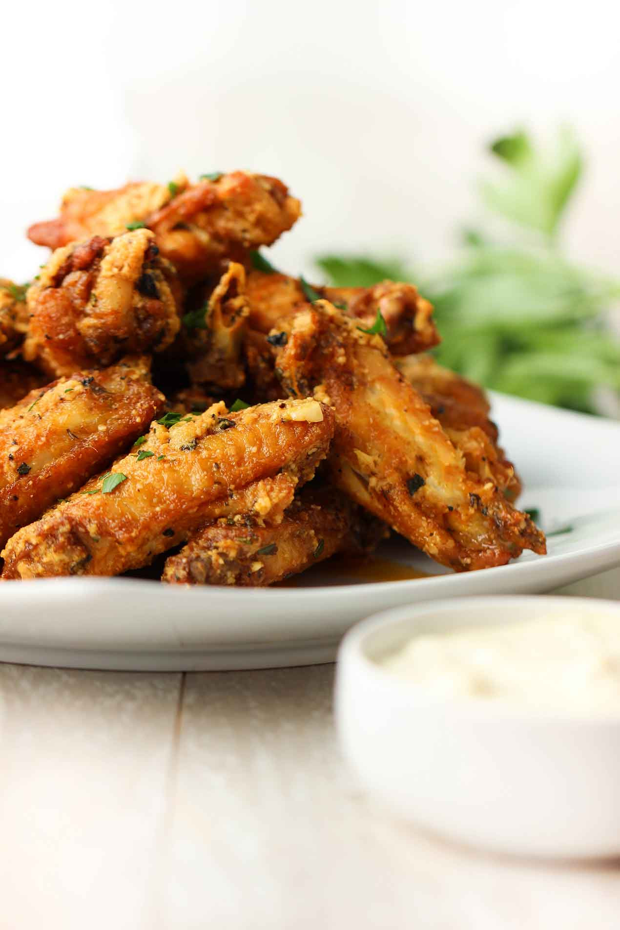 Parmesan Chicken Wings  Garlic Parmesan Chicken Wings How To Feed A Loon