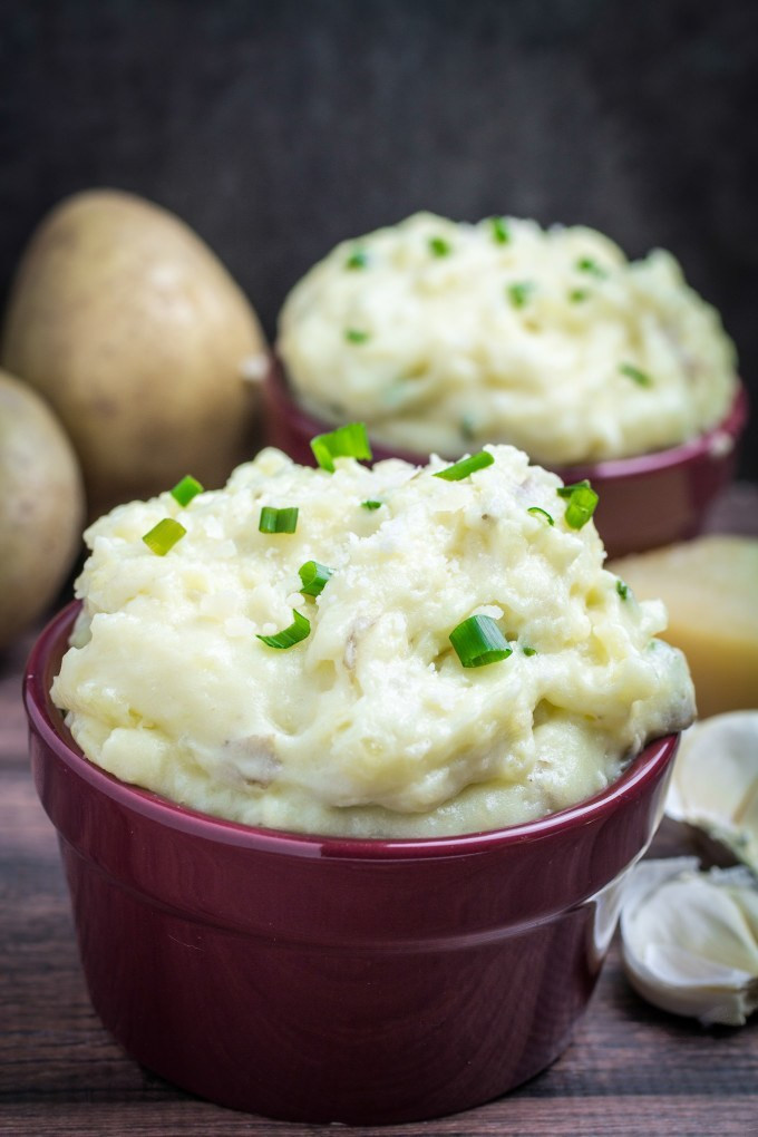 Parmesan Mashed Potatoes  Creamy Garlic Parmesan Mashed Potatoes Dishing Delish