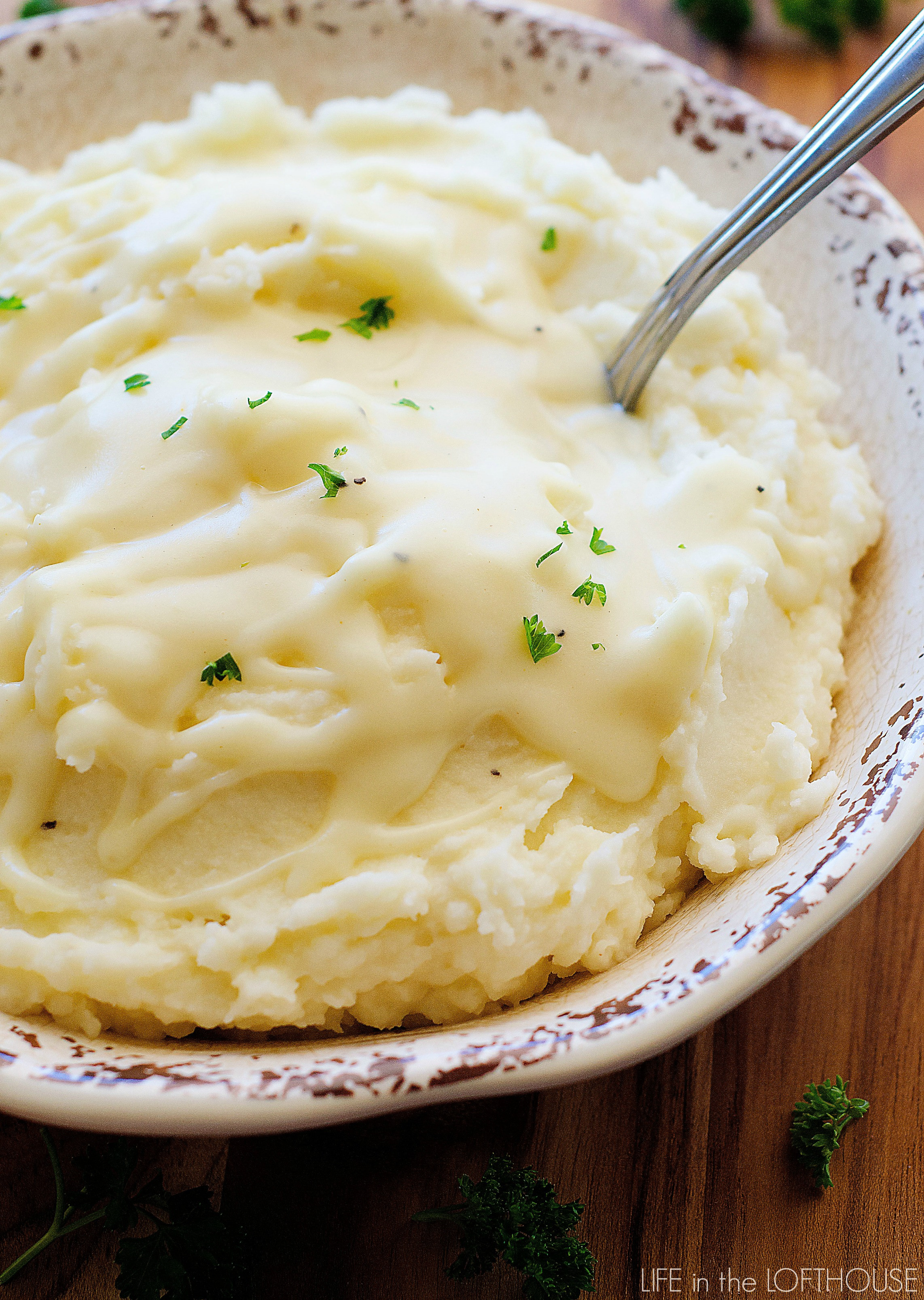 Parmesan Mashed Potatoes  Garlic Parmesan Mashed Potatoes & Gravy