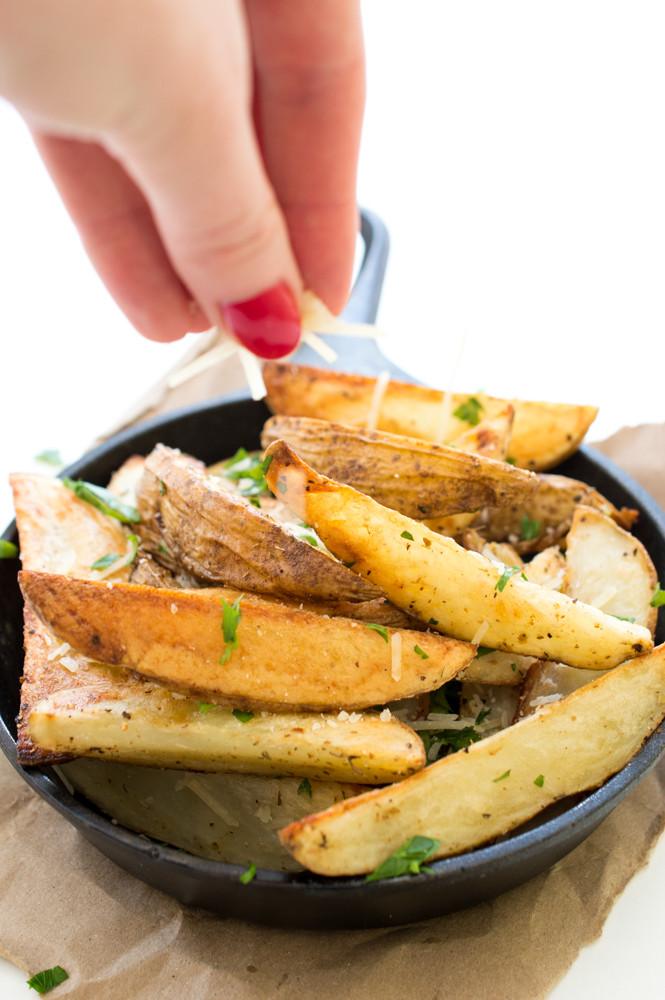 Parmesan Potato Wedges  Baked Parmesan Potato Wedges