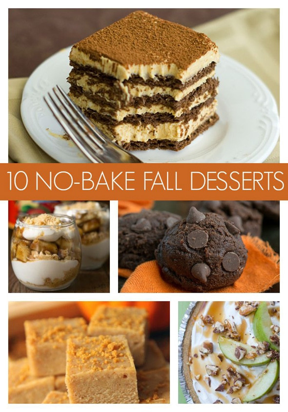 Party Desserts For A Crowd  10 Super Easy No Bake Fall Desserts Pretty My Party
