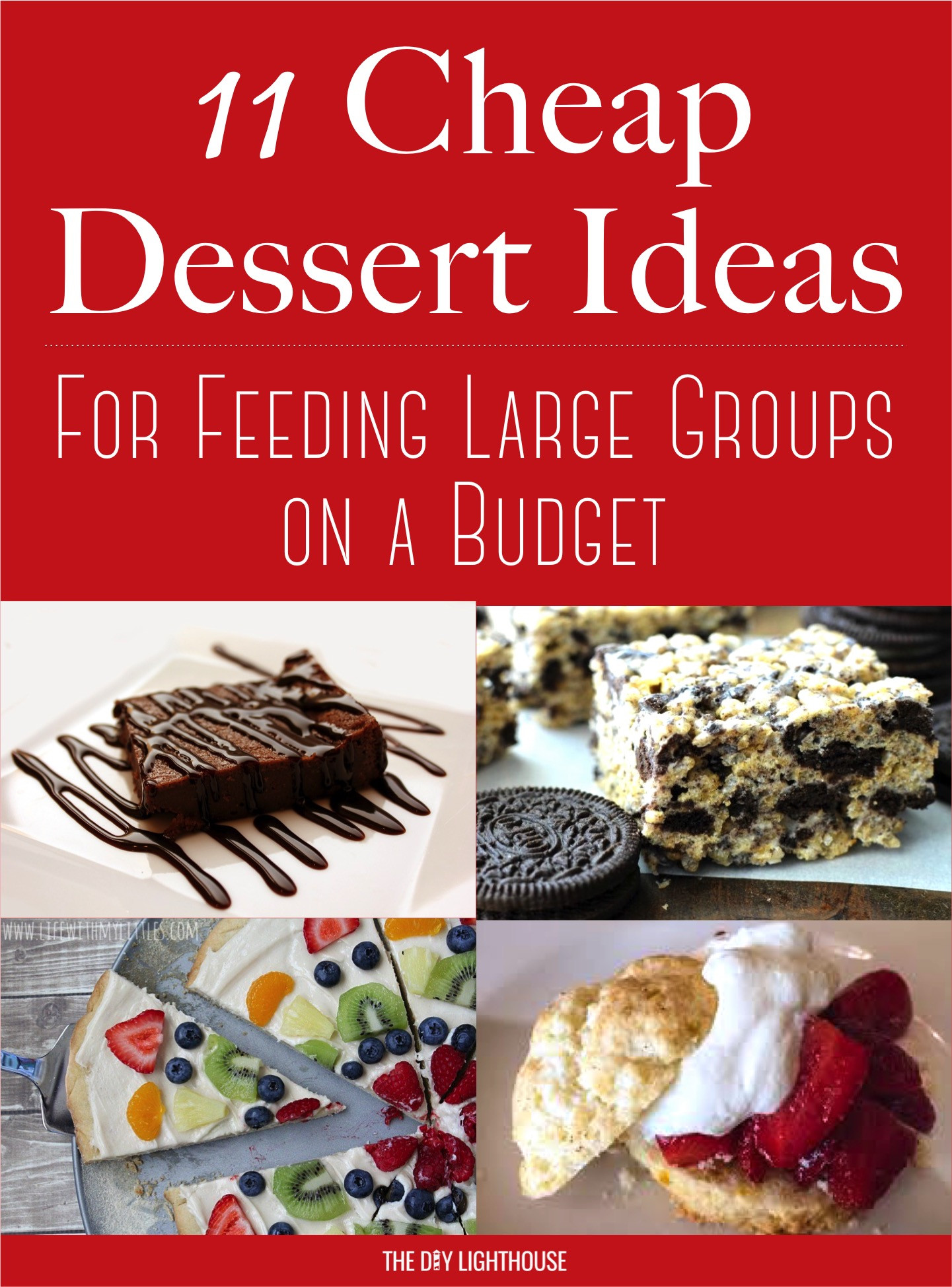 Party Desserts For A Crowd  Cheap Dessert Ideas to Feed a Big Group on a Bud The