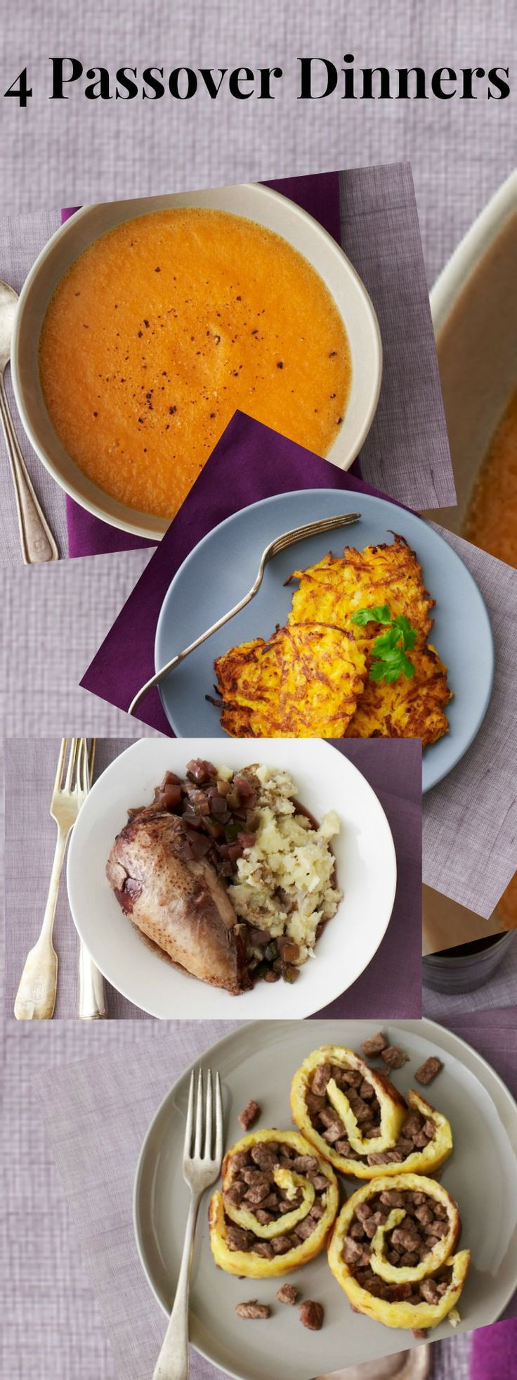 Passover Dinner Recipes  147 best images about Recipes unleavened on Pinterest