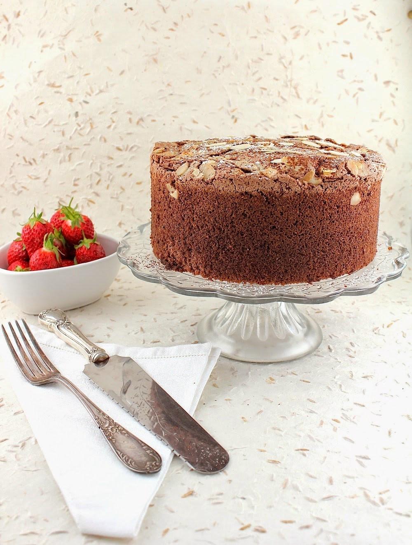 Passover Sponge Cake  Cocoa Espresso Almond Sponge Cake for Passover Gluten free