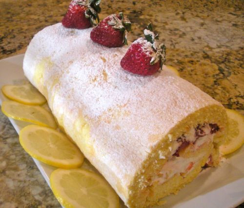 Passover Sponge Cake  Passover Sponge Cake Roll With Strawberries And